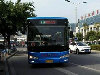 """金旅""""川流""""10.5米纯电动公交车"""