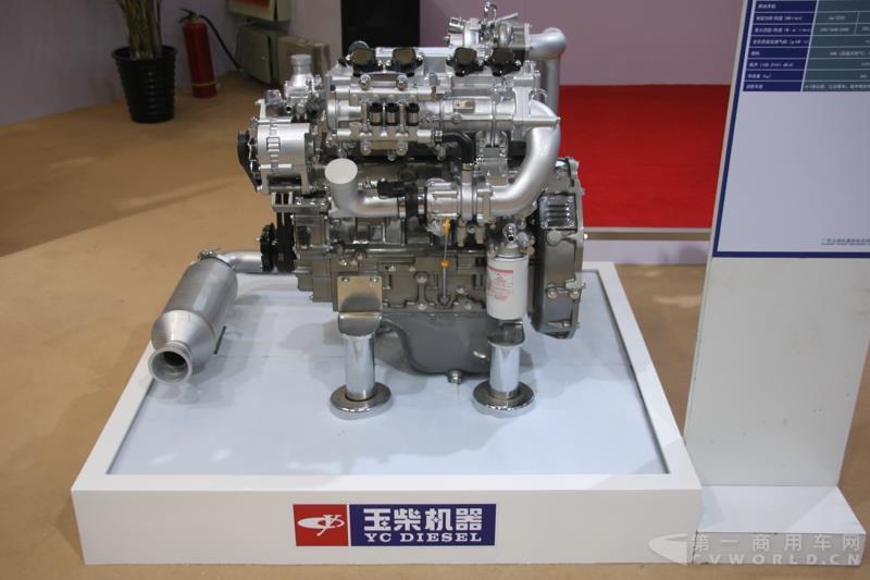 玉柴展出的4fan系列发动机