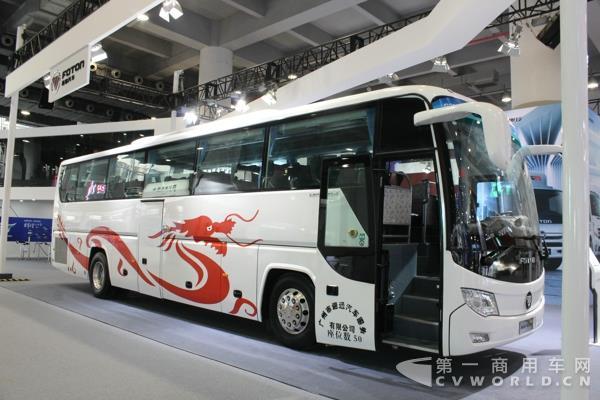 解放展出的是一款城市公交客车