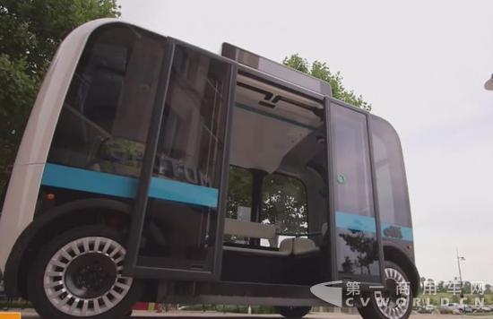 国2月起将推出无人驾驶电动公交车服务高清图片