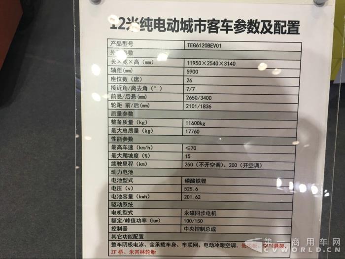 中车电动12米纯电动客车